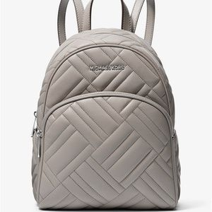 Michael Kors Quilted Leather Medium Backpack